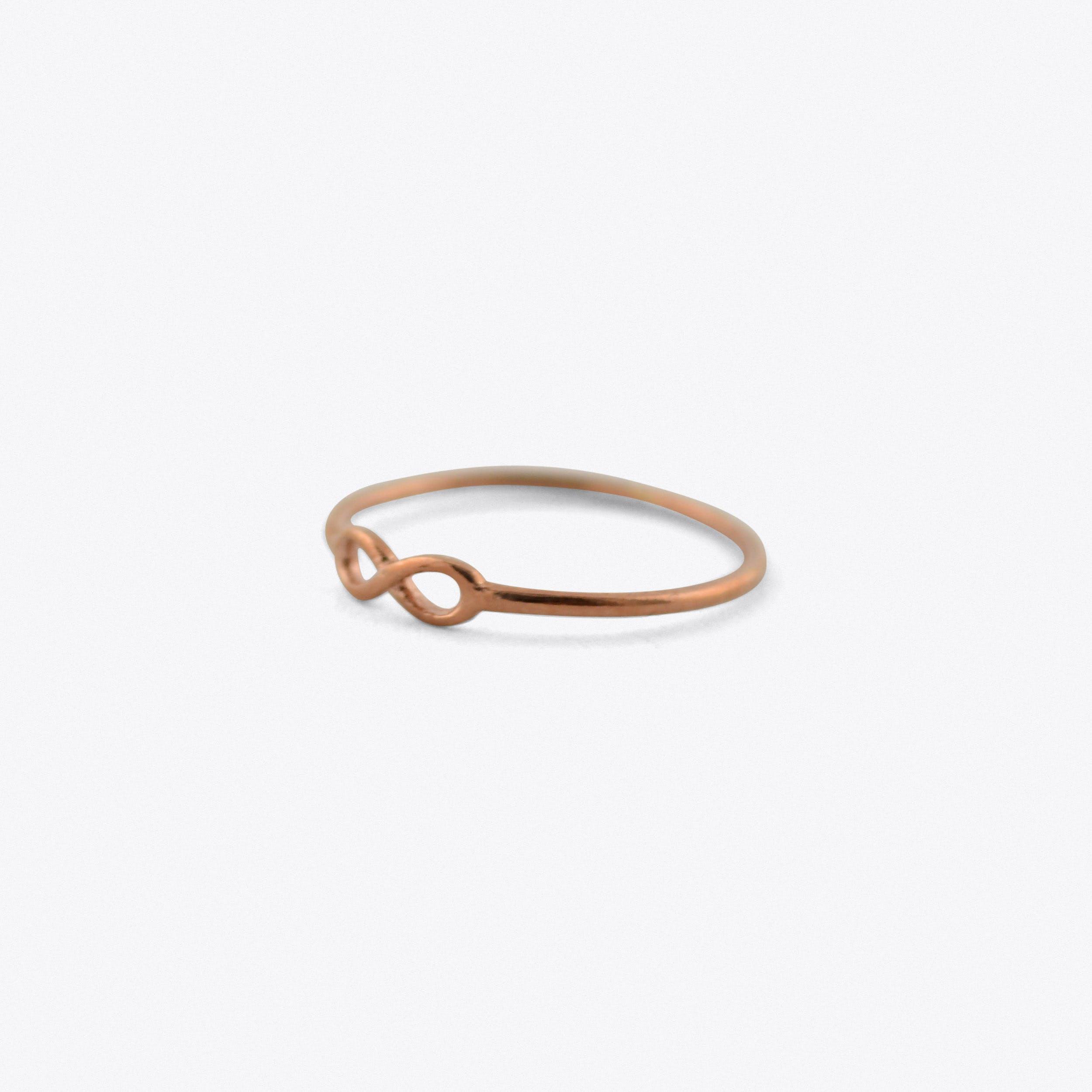 Infinity Midi Ring In Rose Gold