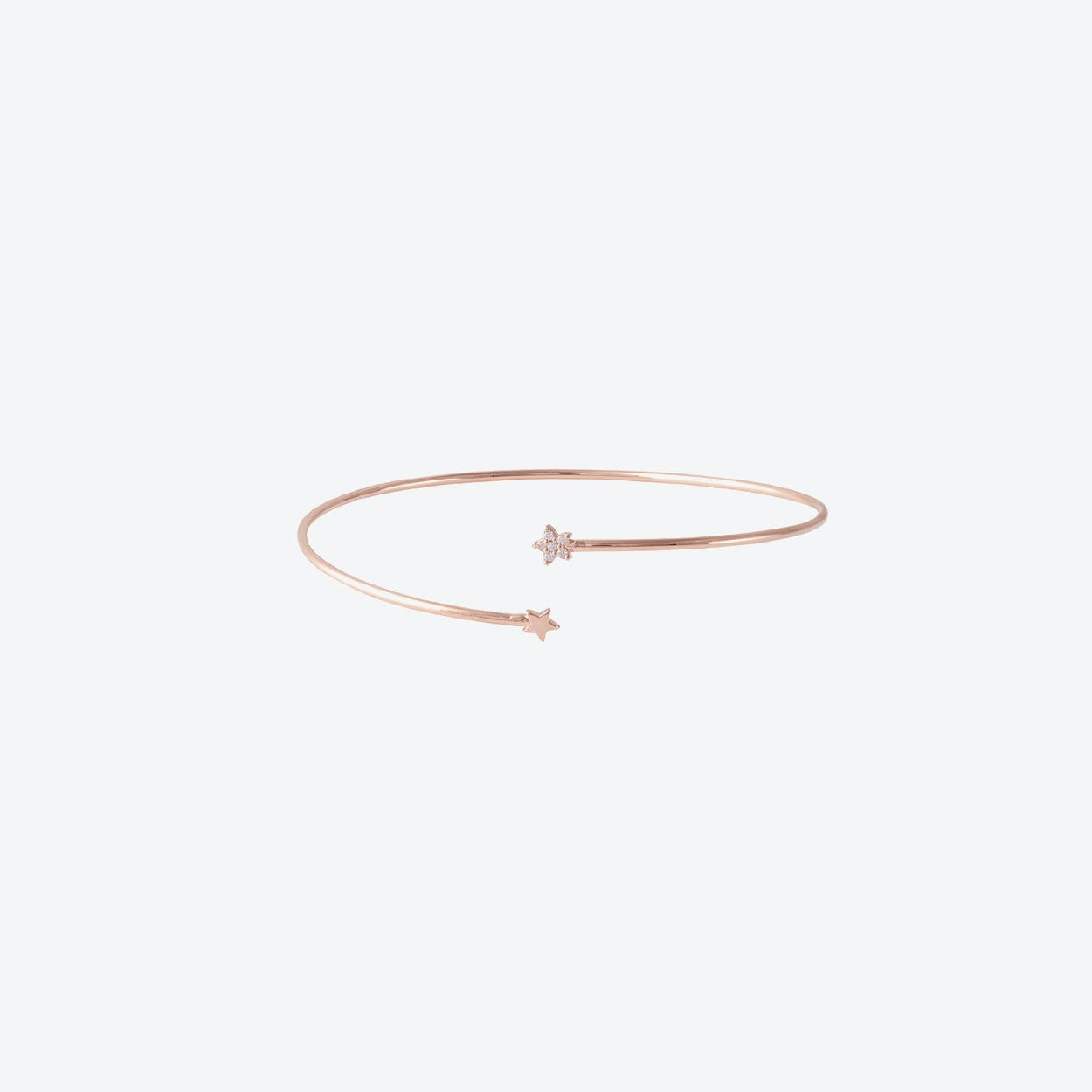Tiny Star Cuff in Rose Gold