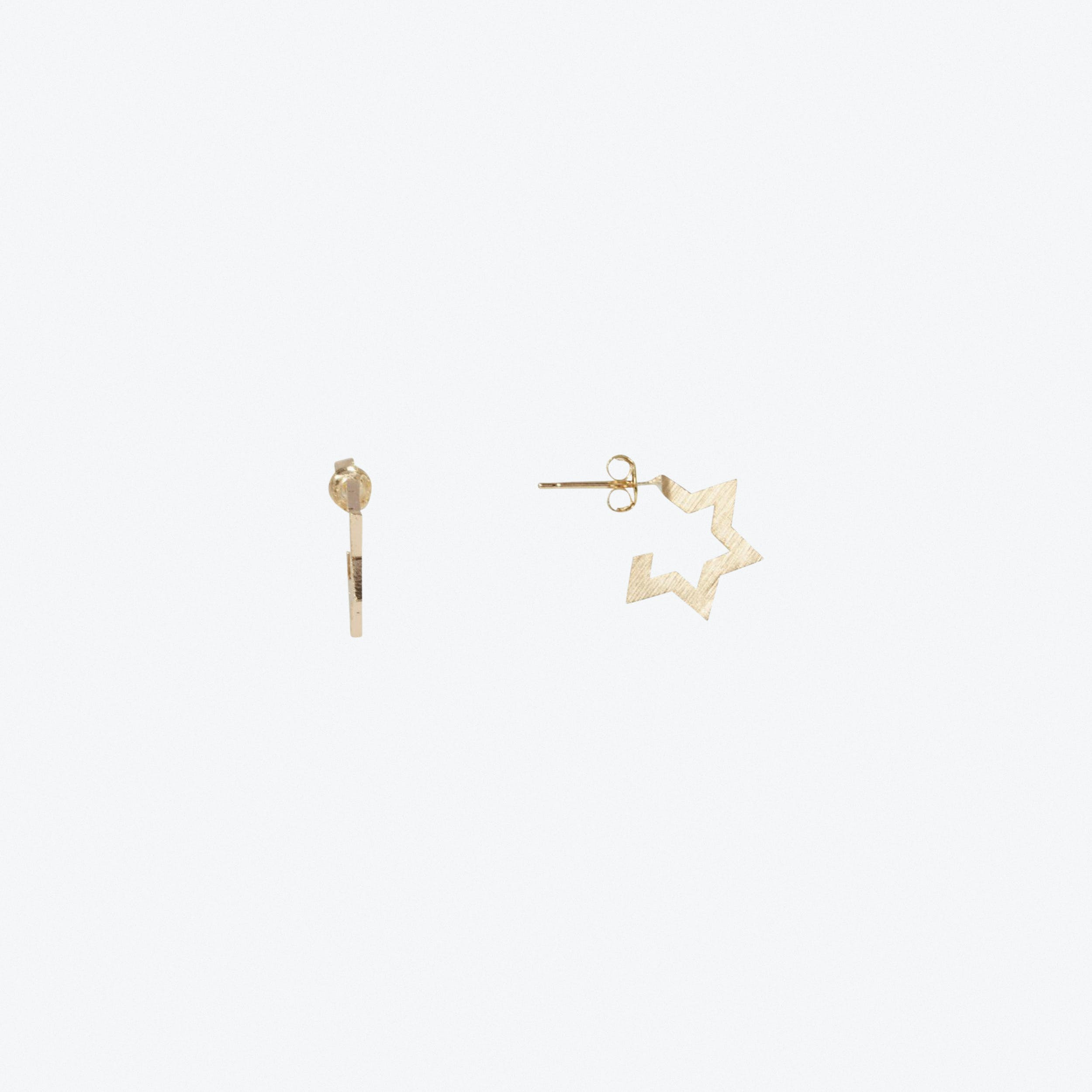Contemporary Star Stud Earrings In Gold