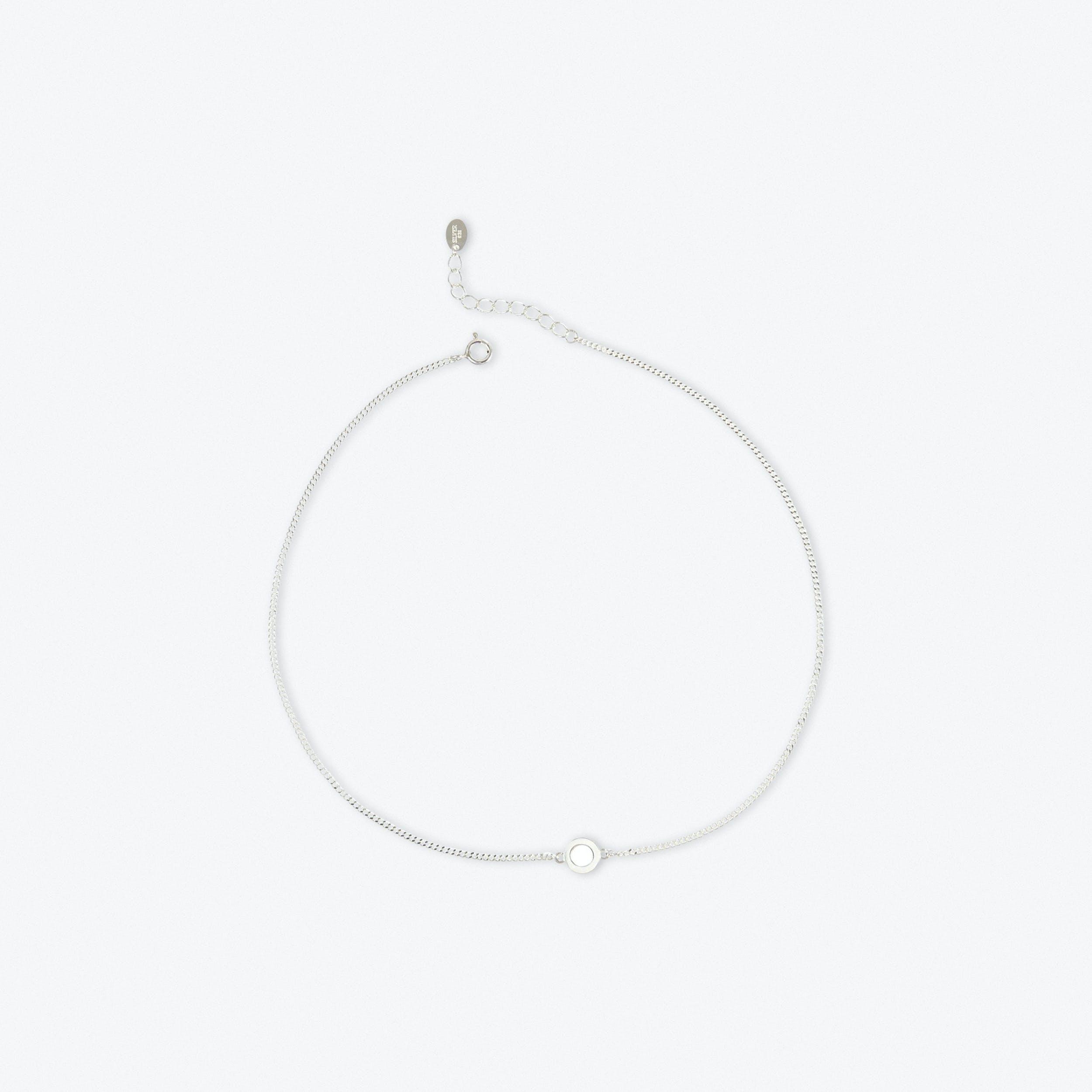 Sterling Silver Tiny Circle Choker