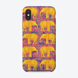 Golden Elephants Phone Case