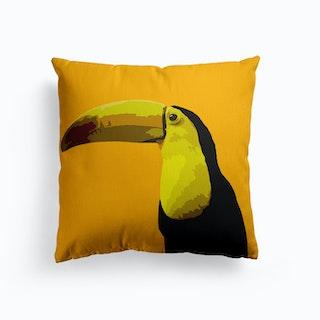 Toucan Yellow Canvas Cushion