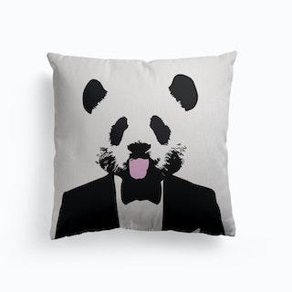 Panda Suit Canvas Cushion