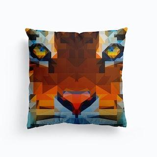 Tiger Geo Canvas Cushion
