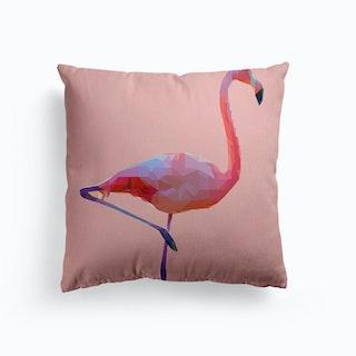 Flamingo Pink Canvas Cushion