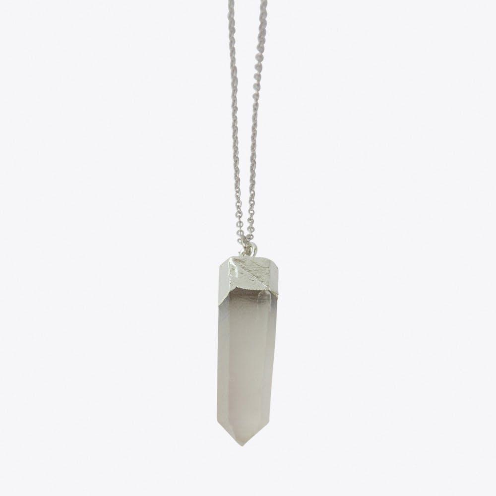 Crystal Quartz Necklace in Silver