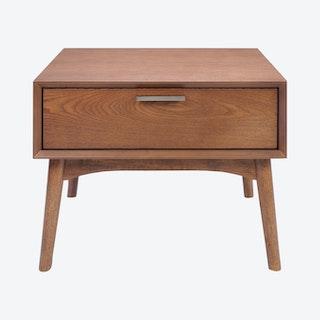 Design District Side Table - Walnut