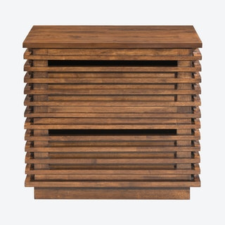 Linea End Table - Walnut