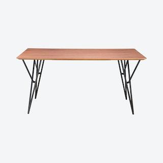 Audrey Dining Table - Walnut / Black