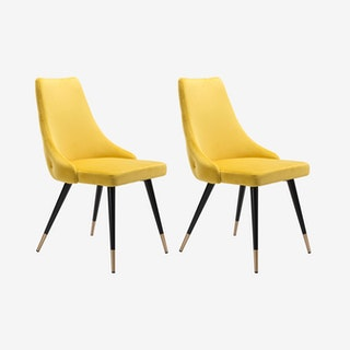 Piccolo Dining Chairs - Yellow - Set of 2