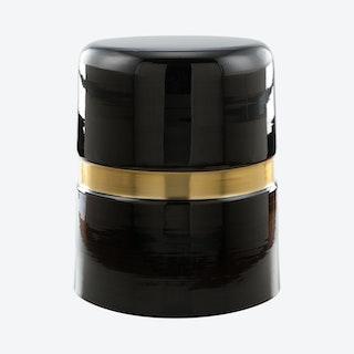 Density Side Table - Black / Gold