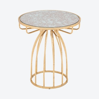 Silo Side Table - Gold