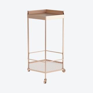 Hex Bar Cart - Gold