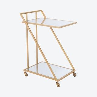 Alto Bar Cart - Gold
