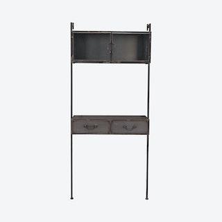 Industrial Wall Desk - Distressed Black