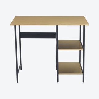 Harris Desk - Brass / Black