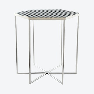 Forma Side Table - Black / White