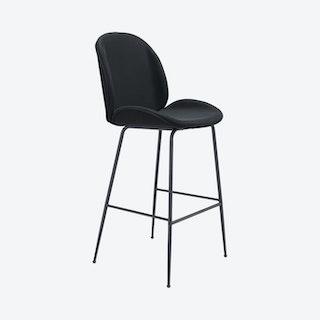 Miles Bar Chair - Black - Velvet