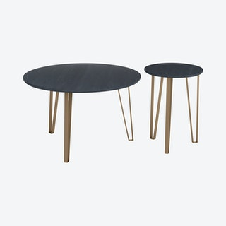 Somme Accent Tables - Black - Set of 2