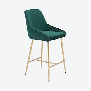 Mira Counter Chair - Green / Gold