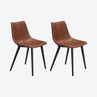 Daniel Dining Chairs - Vintage Brown - Set of 2