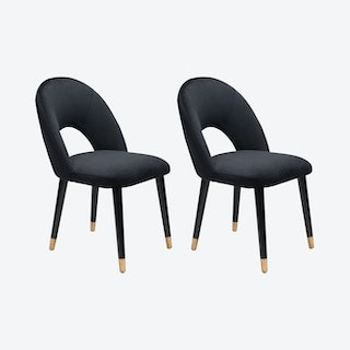 Miami Dining Chairs - Black - Set of 2