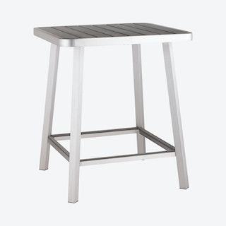 Megapolis Outdoor Bar Table - Silver