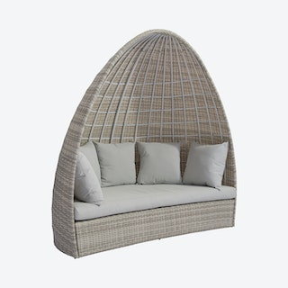 Valencia Outdoor Daybed - White / Grey