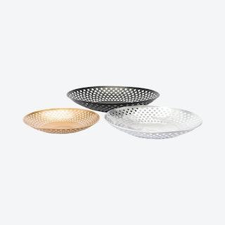 Shallow Bowls - Black / Silver / Gold - Set of 3