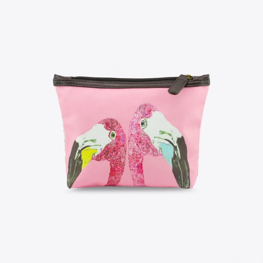 The Loved Up Flamingoes Makeup Bag in Gift Box