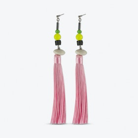 Blushy Pink Tassel Earrings