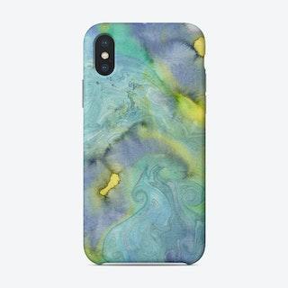Blue Swirls Phone Case