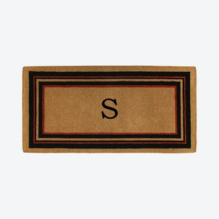 Letter S - Extra-thick Esquire Monogram Doormat