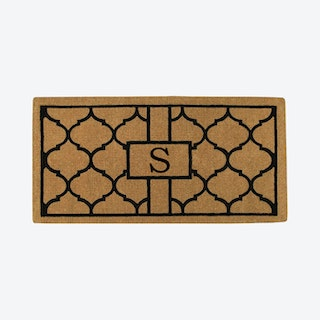 Letter S - Extra-thick Pantera Monogram Doormat