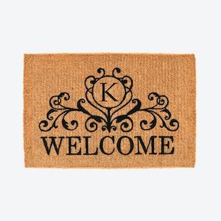 Letter K - Kingston Welcome Doormat