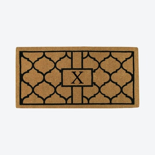 Letter X - Extra-thick Pantera Monogram Doormat