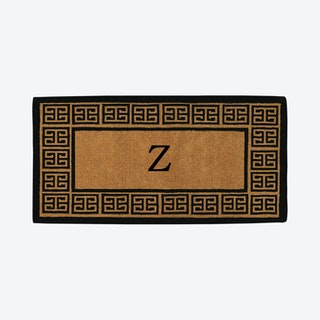 Letter Z - Extra-thick Grecian Monogram Doormat