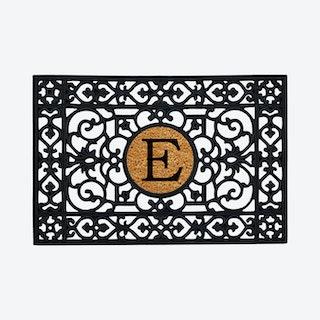 Letter E - Monogram Doormat - Rubber