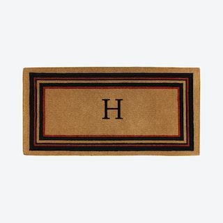 Letter H - Extra-thick Esquire Monogram Doormat