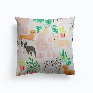 Dogs Canvas Cushion