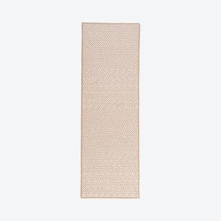 Herringbone Mudroom Runner Rug - Sand