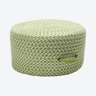 Houndstooth Pouf - Lime