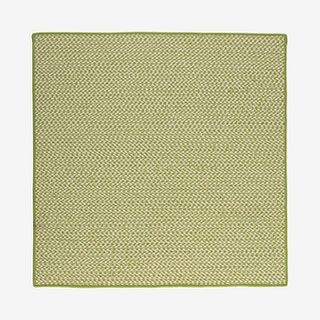 Outdoor Houndstooth Square Area Rug - Lime
