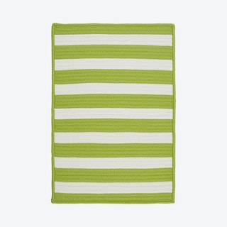 Stripe It Rectangle Area Rug - Bright Lime