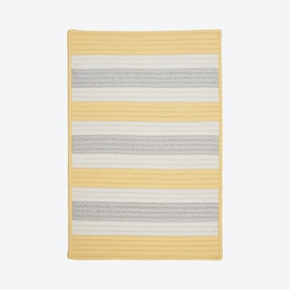 Stripe It Rectangle Area Rug - Yellow Shimmer