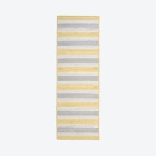 Stripe It Runner Rug - Yellow Shimmer