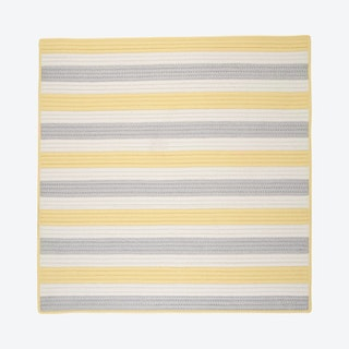 Stripe It Square Area Rug - Yellow Shimmer