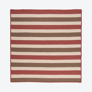 Stripe It Square Area Rug - Terracotta