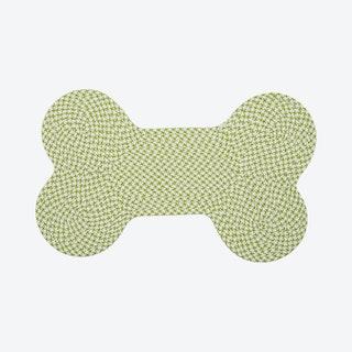 Dog Bone Houndstooth Bright Rug - Lime