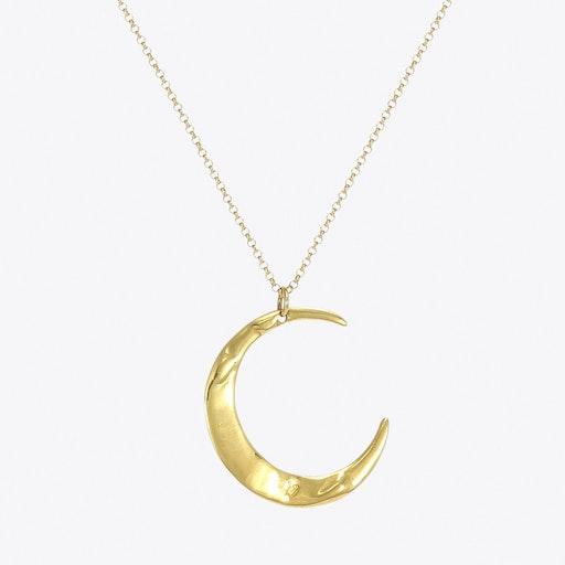 Gold Mega Lune Necklace